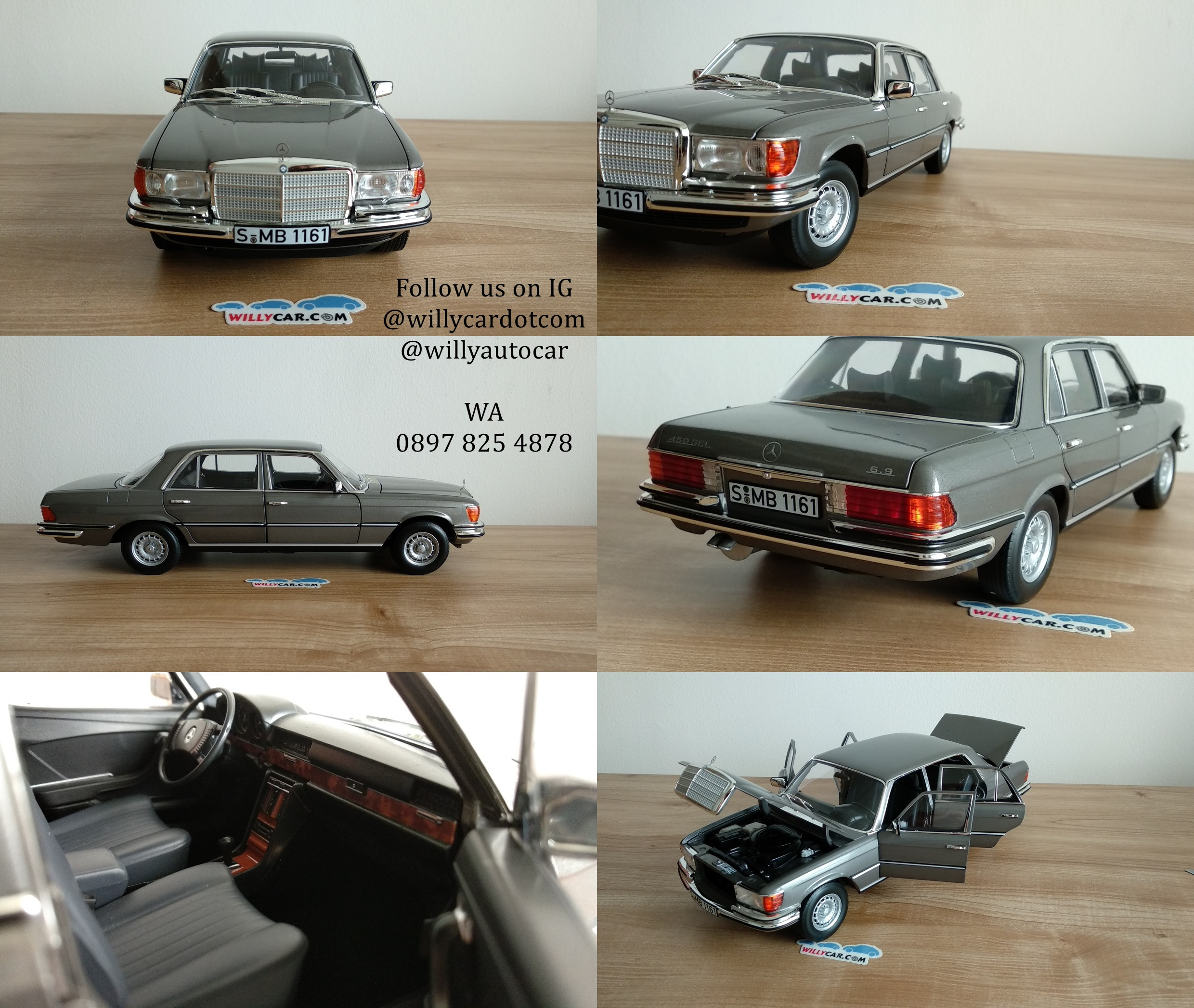 450SEL W116 anthracite grey